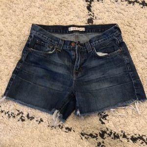 J Brand distressed denim shorts